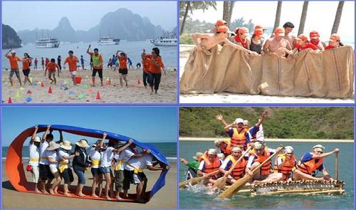 Hoạt động teambuilding trên biển