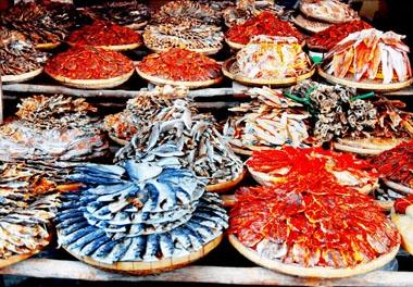 Hải sản khô của Thiên Cầm